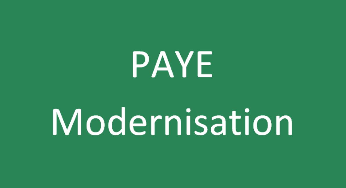 PAYE Modernisation 2019